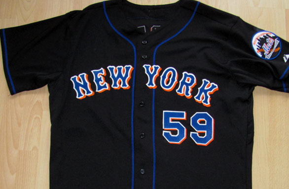 54198444d This jersey would get promoted to the home uniform the following season.  mets black road
