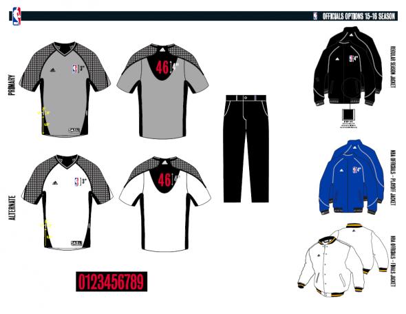 nba refs uniforms