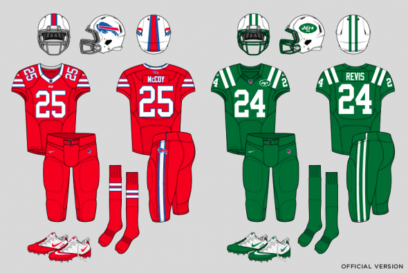 brand new 5a70d 18b65 Fix-It Friday: Bills, Jets Color Rush Uniforms | Chris ...