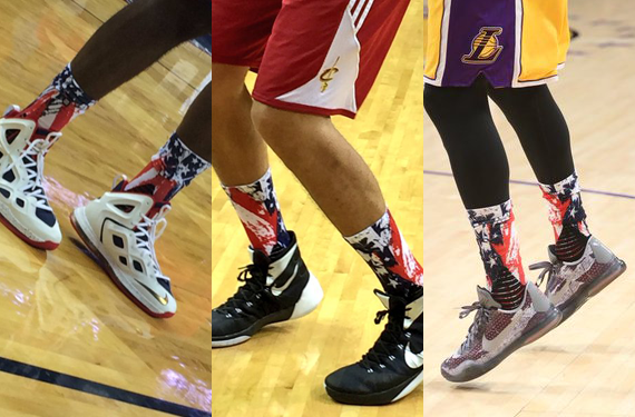 NBA Honors Veterans with Patriotic Socks