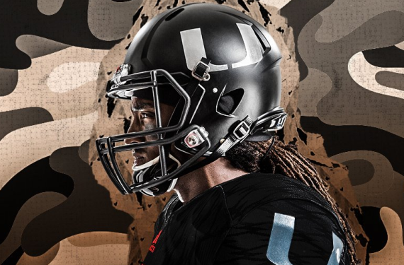 Miami Hurricanes unveil all-black Military tribute uniforms