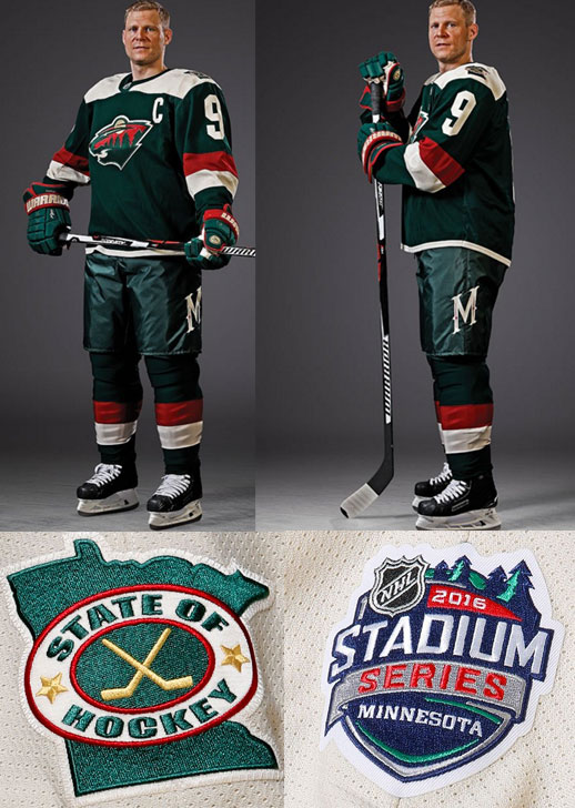 Wild new jersey stadium series 2016