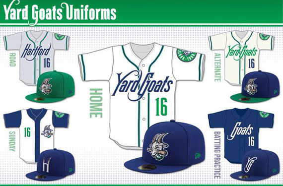Hartford Yard Goats Unveil Uniforms