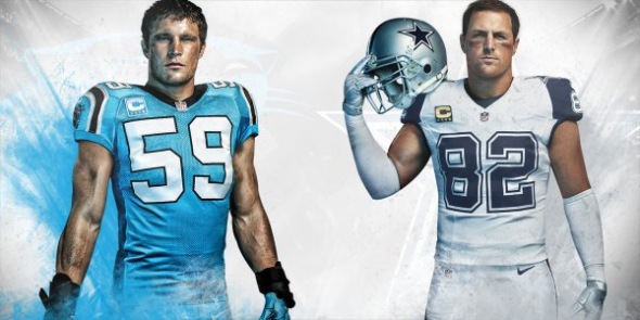 nfl color rush cowboys panthers