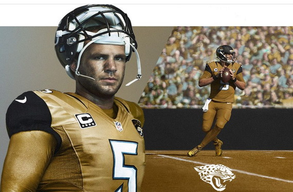 3c58b5ab033 Jacksonville Jaguars gold NFL Color Rush uniforms are leaked | Chris ...