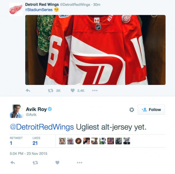 red wings reaction 2