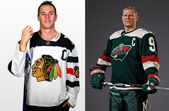 3838130d679 wild-chi jerseys. The Chicago Blackhawks and Minnesota Wild have both  unveiled ...