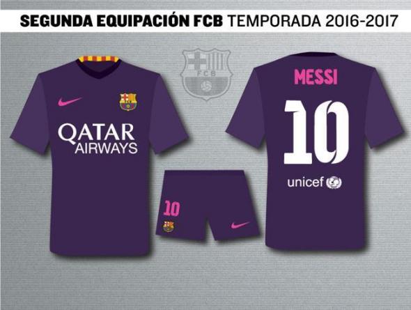 Barcelona 16-17 away kit 1