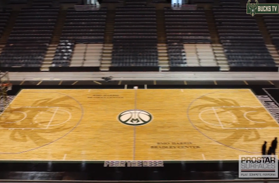 Milwaukee Bucks lay down Fear the Deer court for tonight's game