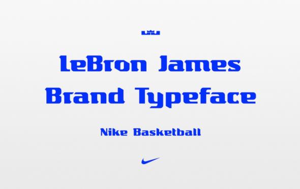 Lebron James typeface 2