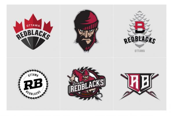 Some of Andy Davidhazy's Proposed RedBlacks logos