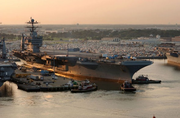 USS HARRY S. TRUMAN (CVN 75) Is currently participating in a Programmed Incremental Availability (PIA) in the Norfolk Navy Shipyards Portsmouth, Virginia.