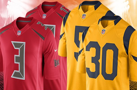 The Bucs and Rams unveil final set of NFL Color Rush uniforms
