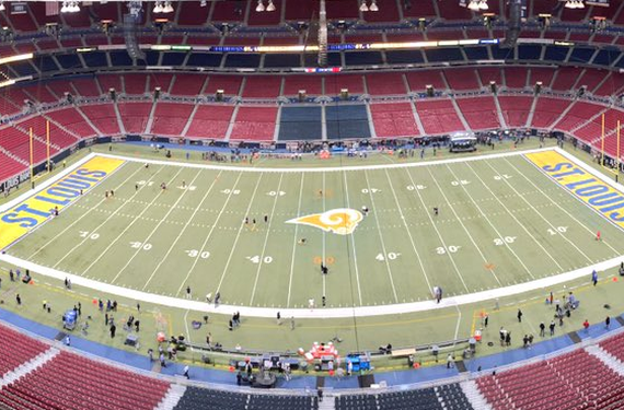 St. Louis Rams go extra yellow with their field design for Color Rush
