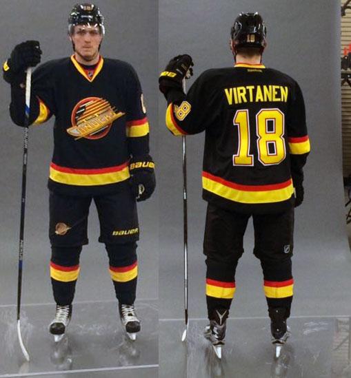Canucks retro jerseys