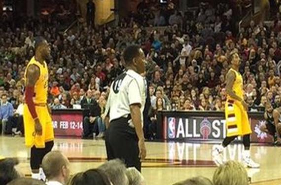 LeBron James wears wrong shorts