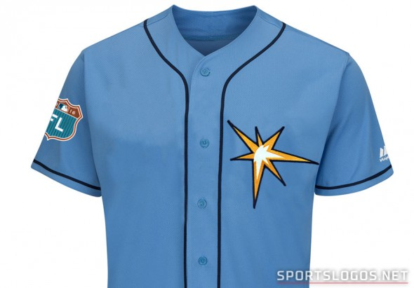 Tampa Bay Rays new jersey for spring training