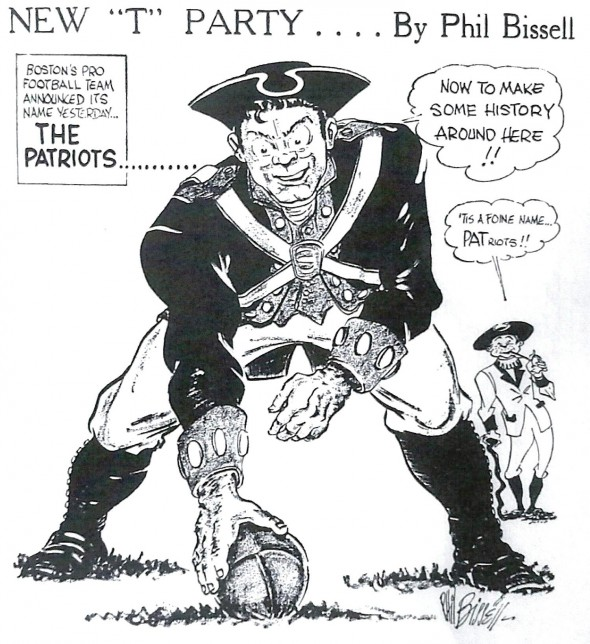 Pat gets his name from that first cartoon. Courtesy Phil Bissell