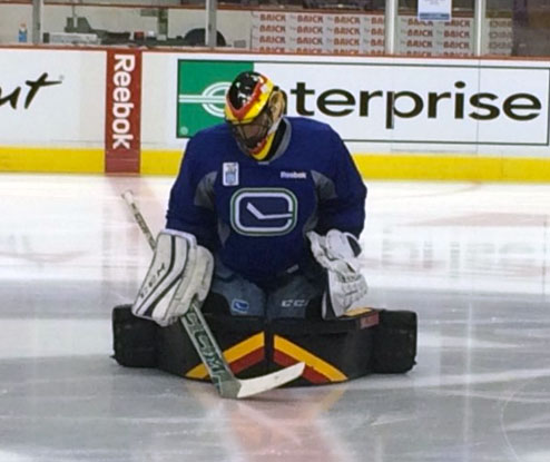 Ryan Miller Retro Goale Pads and Mask
