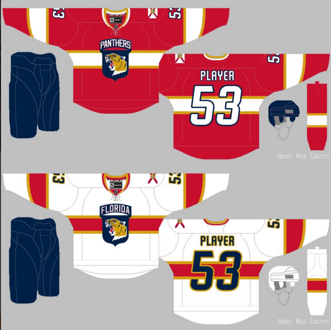 Details, Mockup of New Florida Panthers Logo & Uniforms