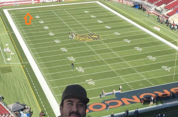 Whoops: Super Bowl grounds crew paints Broncos colors in both endzones