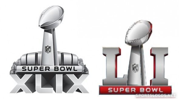 super bowl logo compare