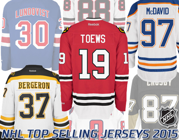 Top Selling NHL Player Jerseys of 2015