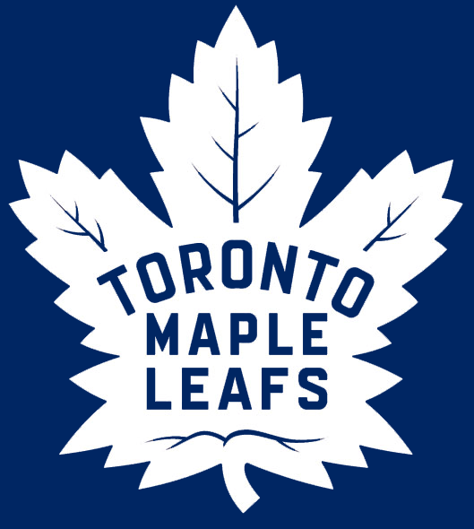 New Toronto Maple Leafs Logo on Blue