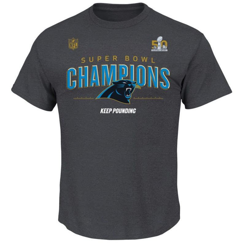 Phantom Merchandise  Carolina Panthers Super Bowl 50 Champions Gear ... 327c6c205