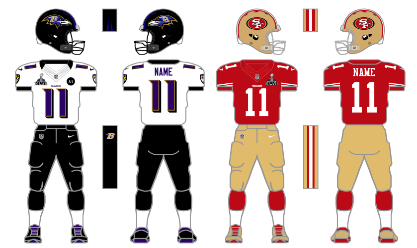 A look at the 10 best Super Bowl uniform matchups  e3bea03fa