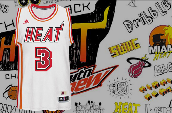 Miami Heat throw back to the 90s