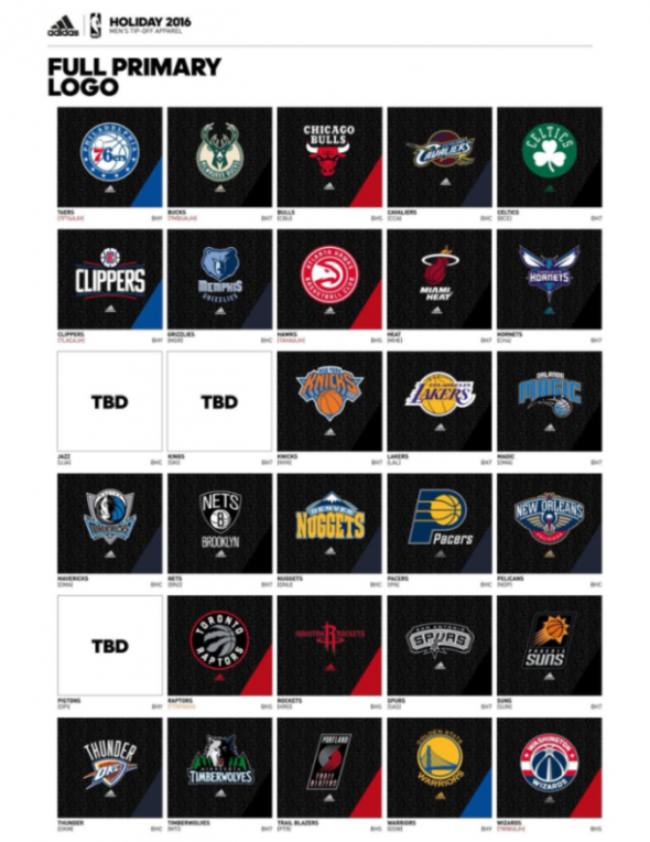 Note the TBD placeholders for those three teams