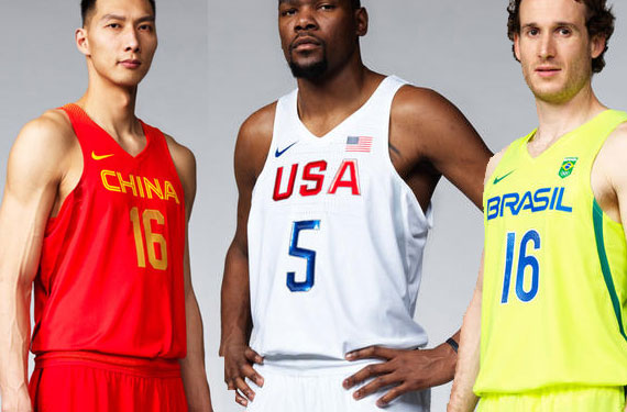 2016 Olympic Basketball Uniforms