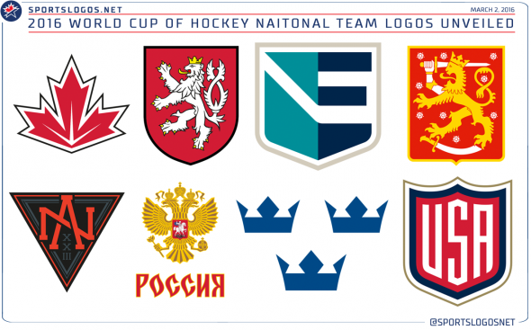 2016 World Cup of Hockey Team Logos