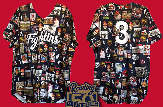 Reading Fightins honor 50 greatest players on promotional jersey