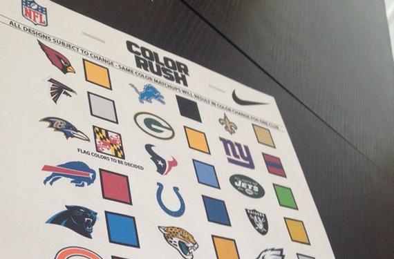 2016 NFL Color Rush colors may have been leaked