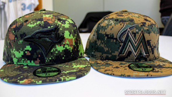 Comparing Canadian and American camouflage patterns (Photo: Chris Creamer/SportsLogos.Net)