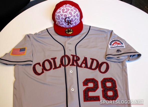 Colorado Rockies Fourth of july Uniform
