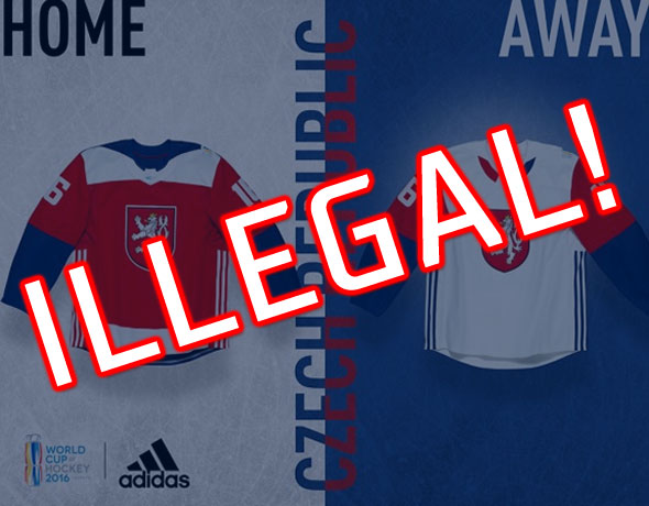 Czech Republic Original Uniforms World Cup 2016 Hockey Illegal bb7311cb3