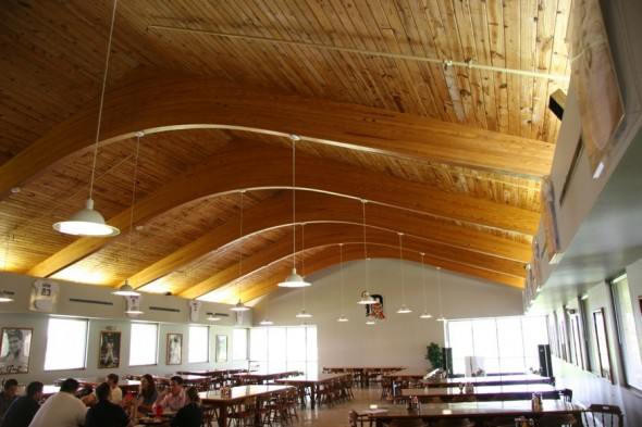 The former mess hall is now a cafeteria. Photo by Jason Klein