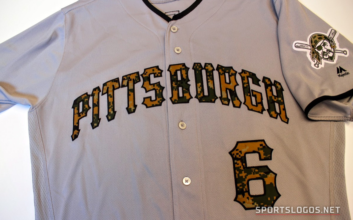 39993166ec1 Pittsburgh Pirates Memorial Day Jersey (Photo  Chris Creamer  SportsLogos.Net)