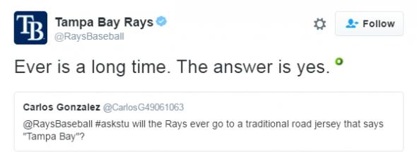 Rays road uniform 1