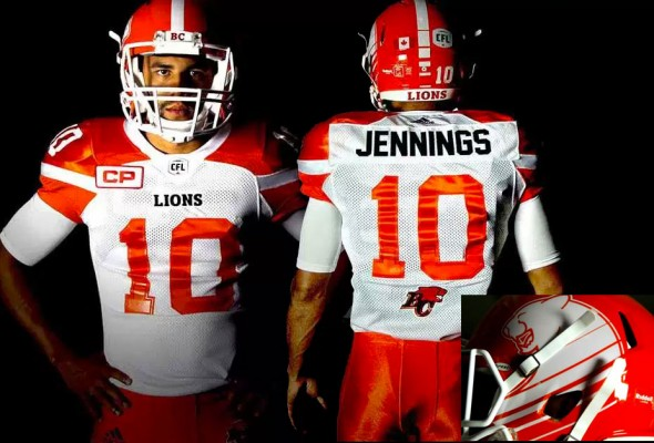 BC Lions New Road Uniforms