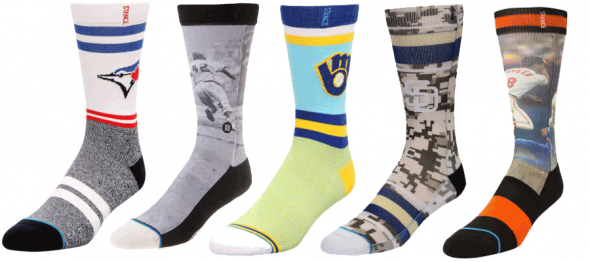 A collection of retail-only MLB socks by Stance