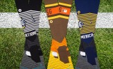 2016 All-Star Game socks on either side of Home Run Derby design