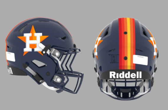 Riddell gives Houston Astros their own football helmets
