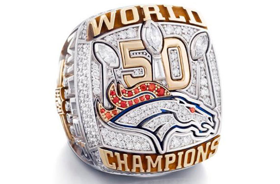 Broncos receive sparkly Super Bowl rings