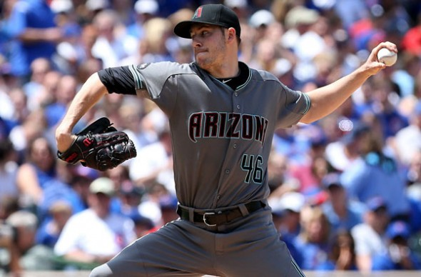 "Pitcher Patrick Corbin told me, ""Switching the road uniforms to the darker grey, I think that's pretty sharp."" Image via Twitter"