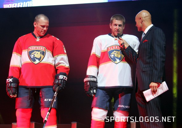 The new Panthers home and road uniforms (Photo Chris Creamer/SportsLogos.Net)