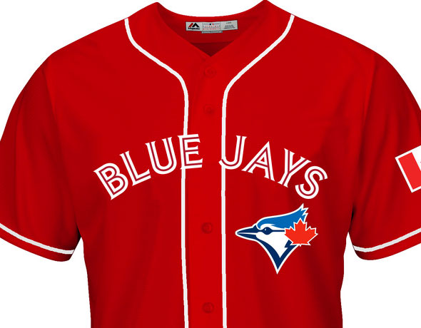 004102372 The Toronto Blue Jays are going back to an all-red look for Canada Day this  year.